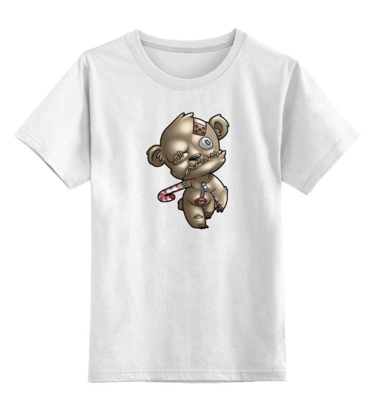 Детская футболка классическая унисекс Printio Мишка зомби