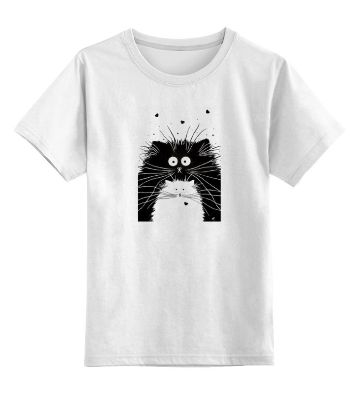 Детская футболка классическая унисекс Printio Кот и кошка детская футболка классическая унисекс printio карандаш и самоделкин