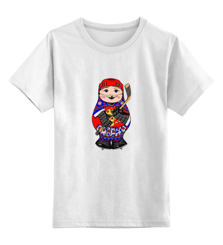 Детская футболка классическая унисекс Printio Матрешка хоккеист как карта болельщика кхл