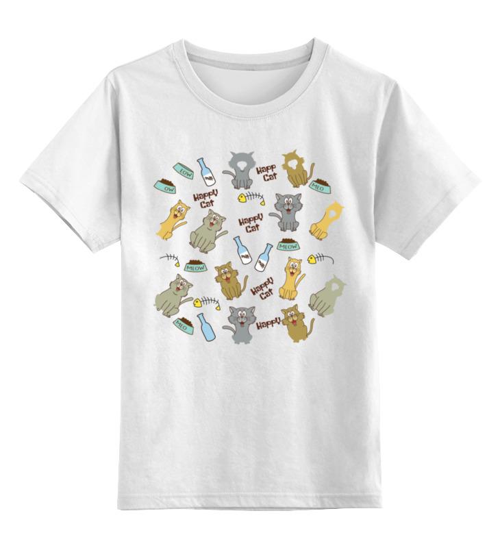 Printio Счастливые коты детская футболка классическая унисекс printio новогодние коты