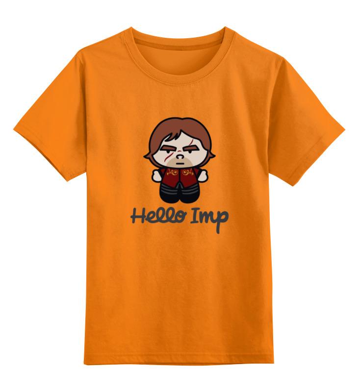 Детская футболка классическая унисекс Printio Hello imp