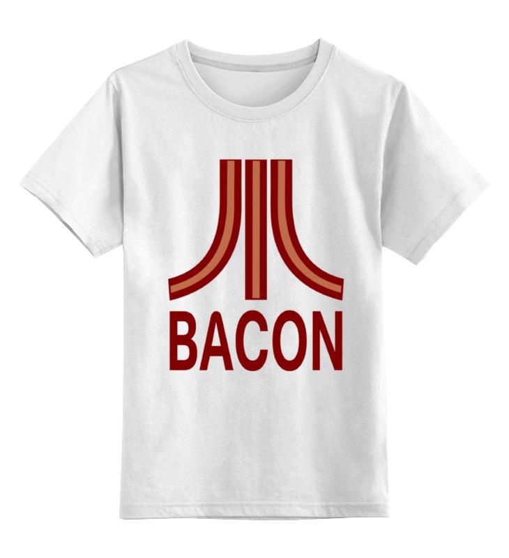 Детская футболка классическая унисекс Printio Бекон (атари) цена и фото