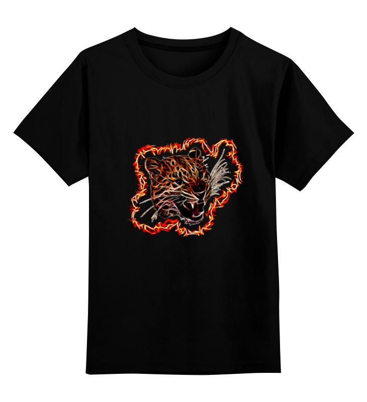 Детская футболка классическая унисекс Printio Леопард цена