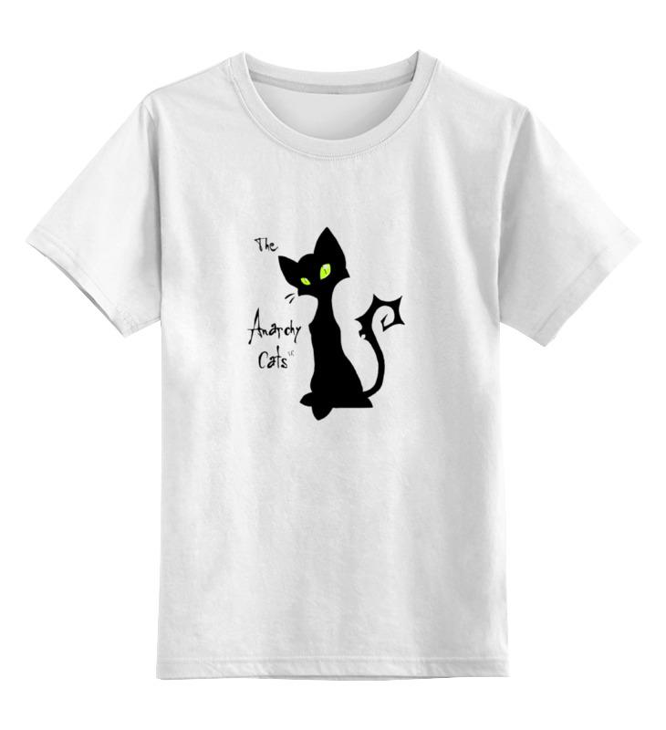 Детская футболка классическая унисекс Printio Кот-анархист цена и фото
