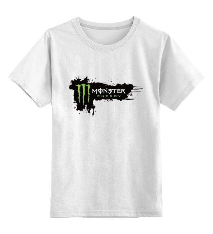 Детская футболка классическая унисекс Printio Monster energy