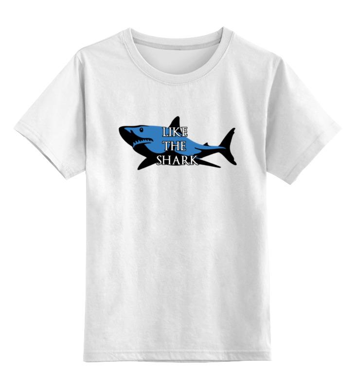купить Детская футболка классическая унисекс Printio Like the shark по цене 546 рублей