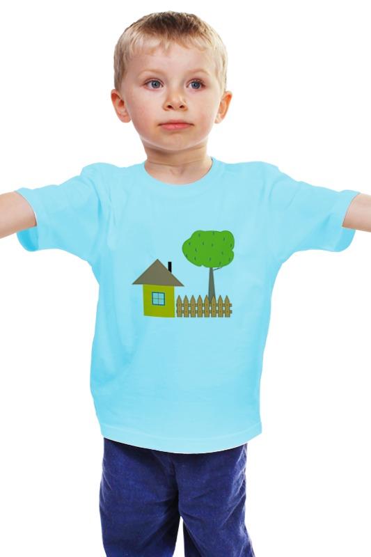 Детская футболка классическая унисекс Printio Ьаьушкин домик купить дачу в калининграде 300 тыс