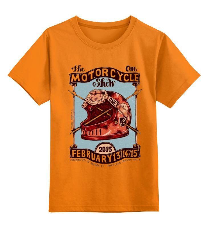 Детская футболка классическая унисекс Printio Motorcycle show motorcycle front