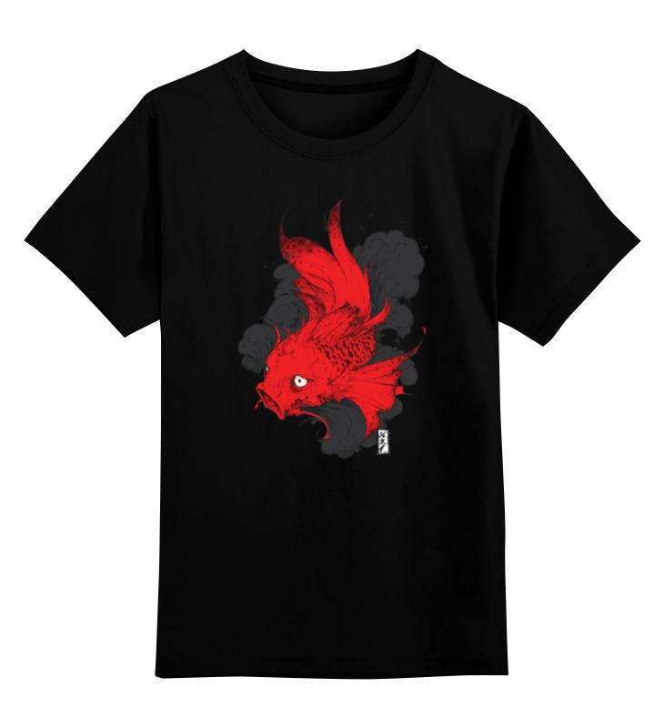Детская футболка классическая унисекс Printio Scarlet fish / алая рыба free shipping japanese anime 1pcs griffon touhou project flandre scarlet scarlet sword ver pvc action figure toy 25cm