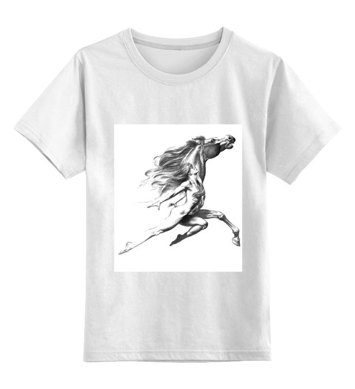 Детская футболка классическая унисекс Printio Девушка с конем. детская футболка классическая унисекс printio красота смертельна