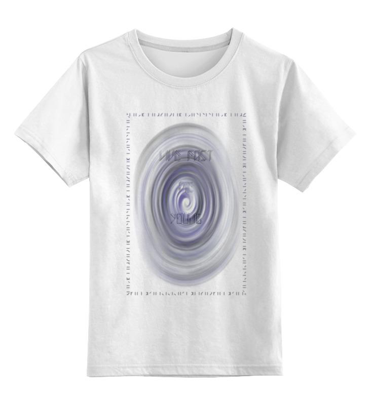 Детская футболка классическая унисекс Printio Live fast, die young live and let die