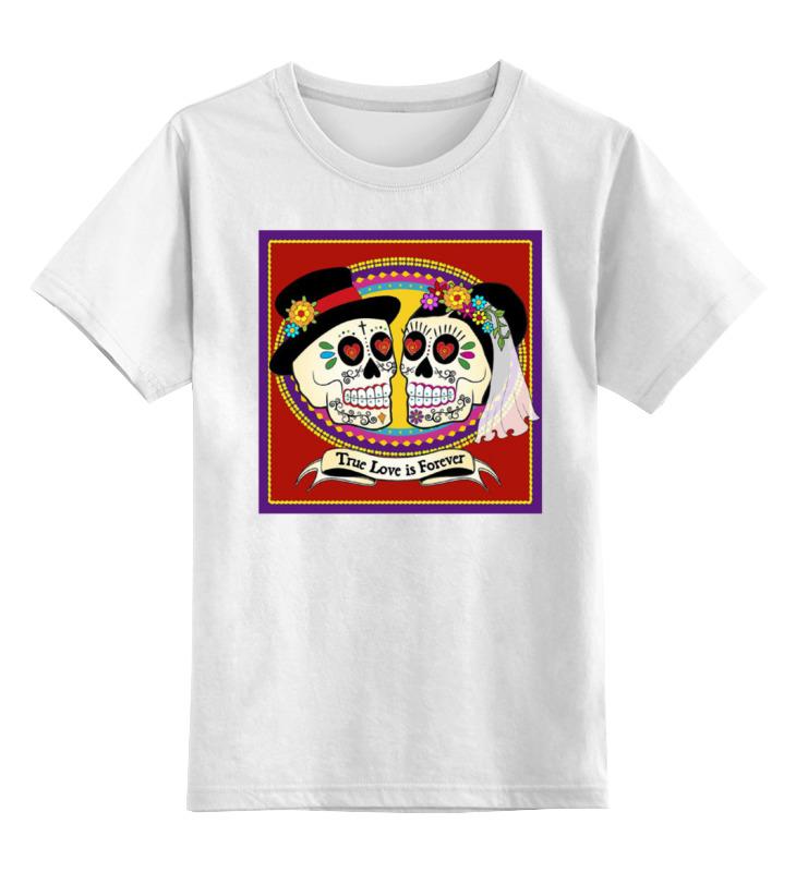 Детская футболка классическая унисекс Printio Skull love forever цена и фото