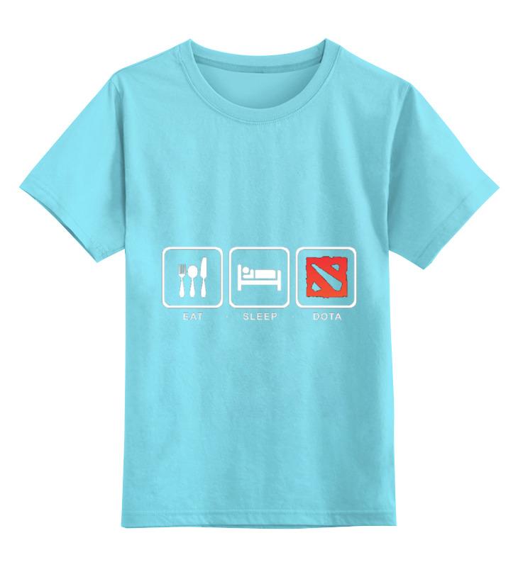 Детская футболка классическая унисекс Printio Eat sleep dota детская футболка классическая унисекс printio классическая футболка dota 2