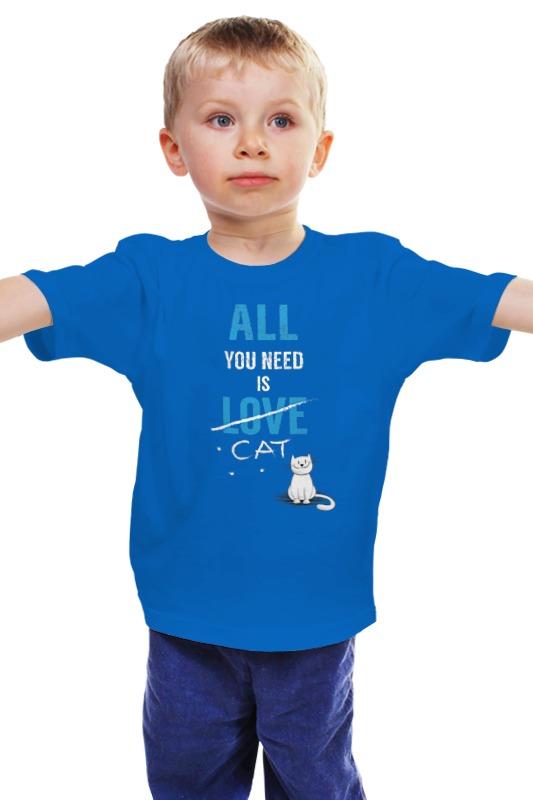 Детская футболка классическая унисекс Printio Все, что вам нужно, это кот. просите все что нужно