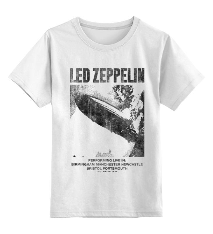 Детская футболка классическая унисекс Printio Led zeppelin цена