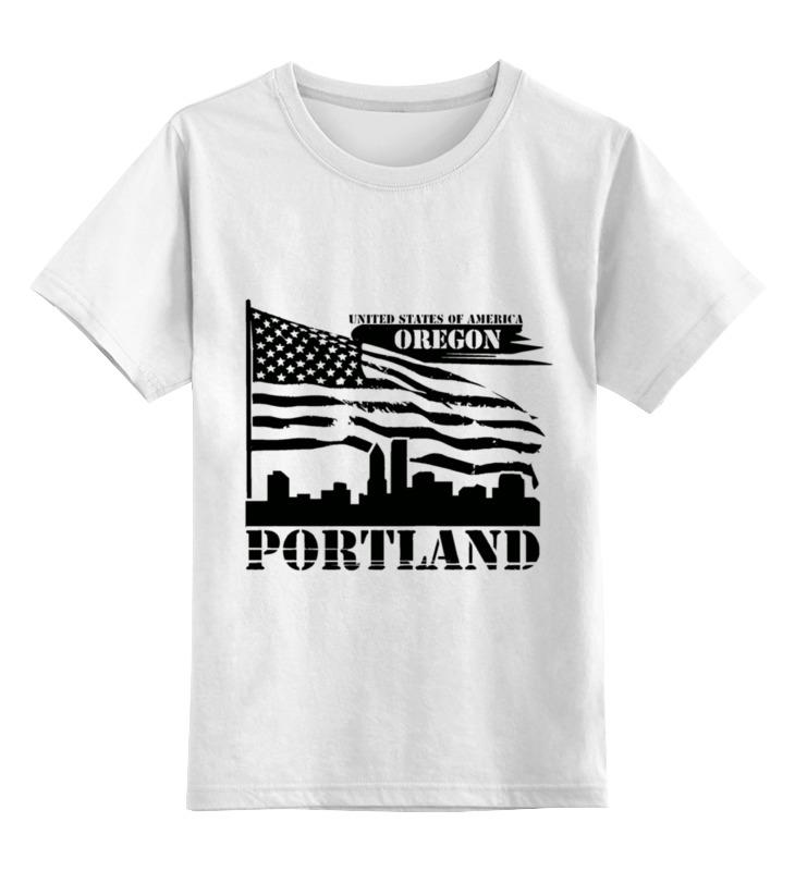 Детская футболка классическая унисекс Printio Портленд-орегон дорожка садовая деревянная 40х40 см орегон
