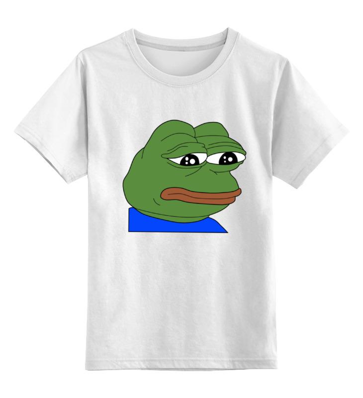 Детская футболка классическая унисекс Printio Sad frog шумоподавитель supra sad gl