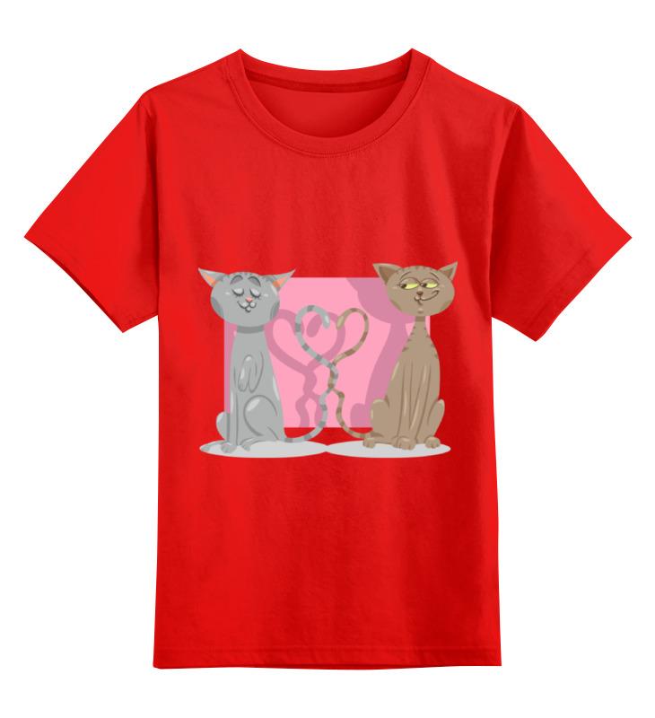 Printio Влюблённые коты детская футболка классическая унисекс printio новогодние коты