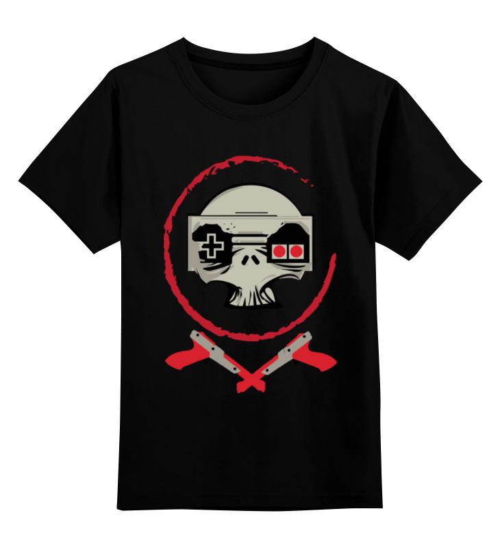 Детская футболка классическая унисекс Printio Череп игрок футболка классическая printio череп игрок