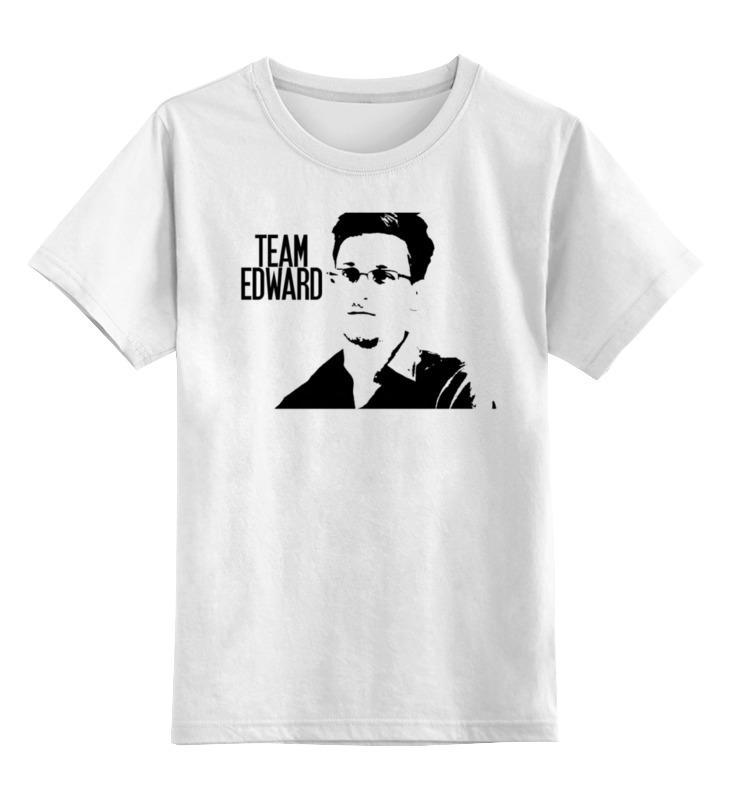 Детская футболка классическая унисекс Printio Edward snowden [edward•edward] футболка