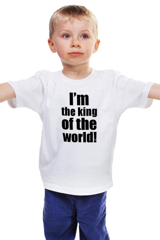 Детская футболка классическая унисекс Printio I'm the king of the world! the reign of king john