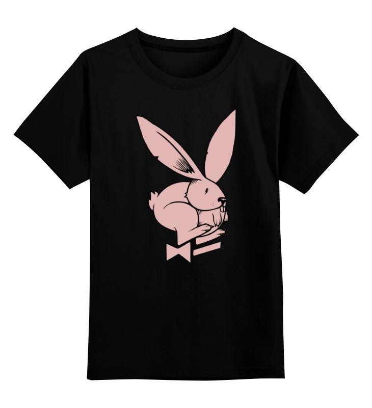 Детская футболка классическая унисекс Printio Playboy / зайчик майка классическая printio playboy   зайчик