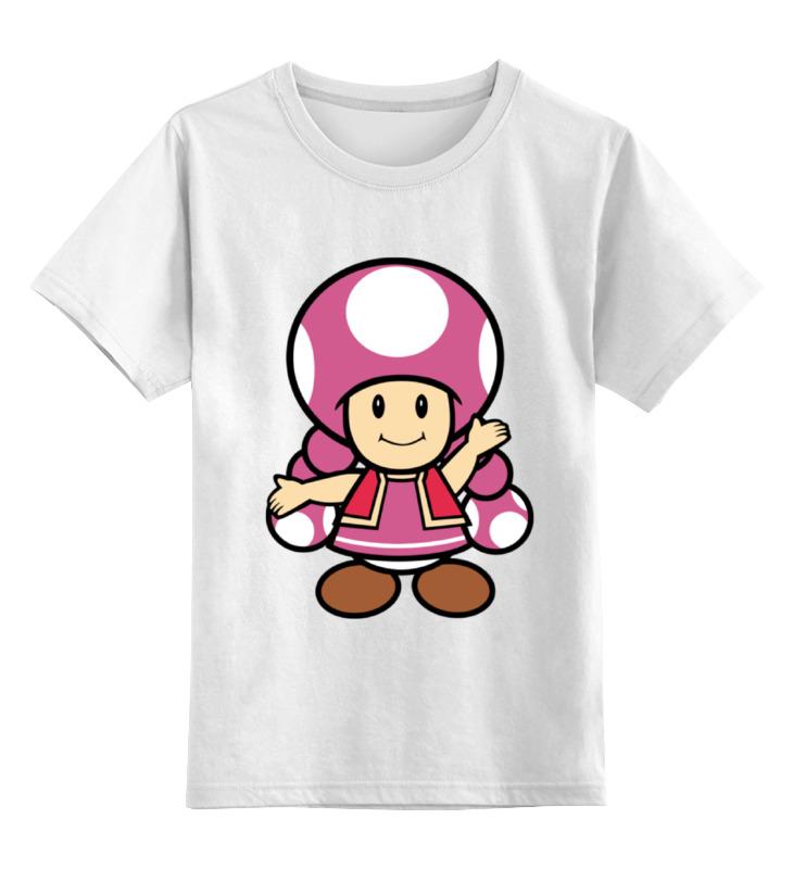 Детская футболка классическая унисекс Printio Toadette (mario) лонгслив printio toadette mario