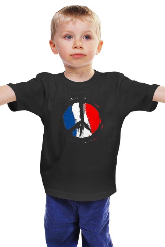 Детская футболка классическая унисекс Printio Мир парижу (peace for paris)
