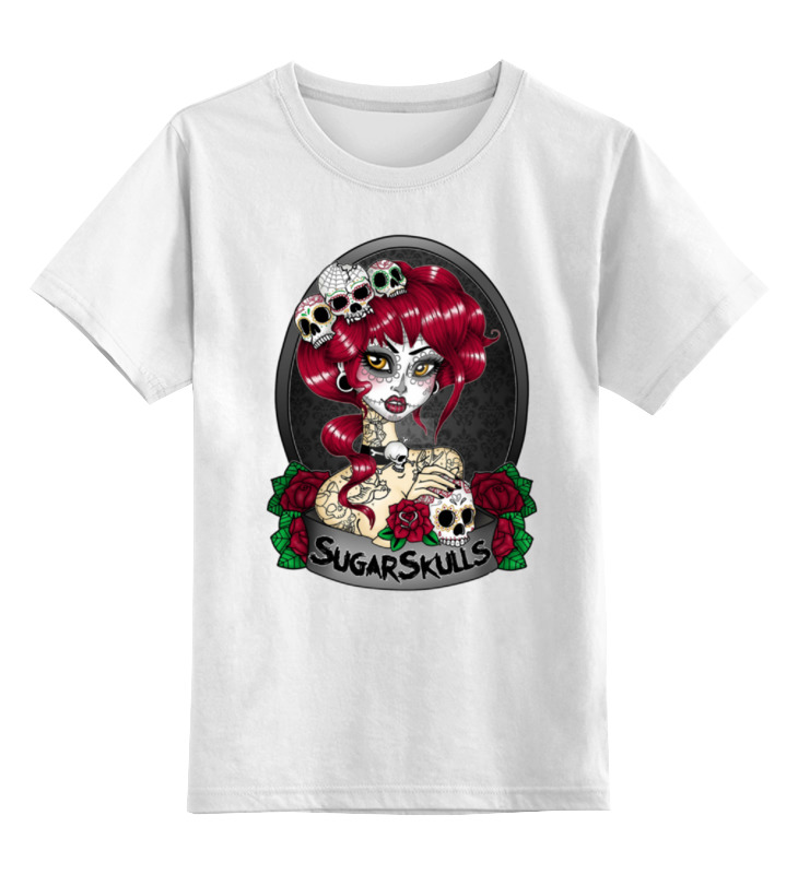 Детская футболка классическая унисекс Printio Sugar skull girl футболка authentic cube sugar 2015 cube sugar