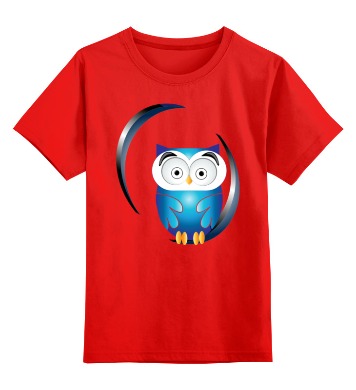 Детская футболка классическая унисекс Printio Сова. цена и фото