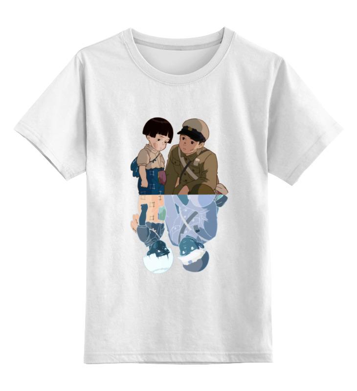 Детская футболка классическая унисекс Printio Сэйта и сэцуко из могилы светлячков лонгслив printio сэйта и сэцуко из могилы светлячков