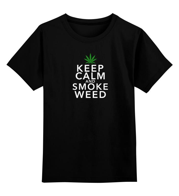 Детская футболка классическая унисекс Printio Smoke marijuana детская футболка классическая унисекс printio мотобайк