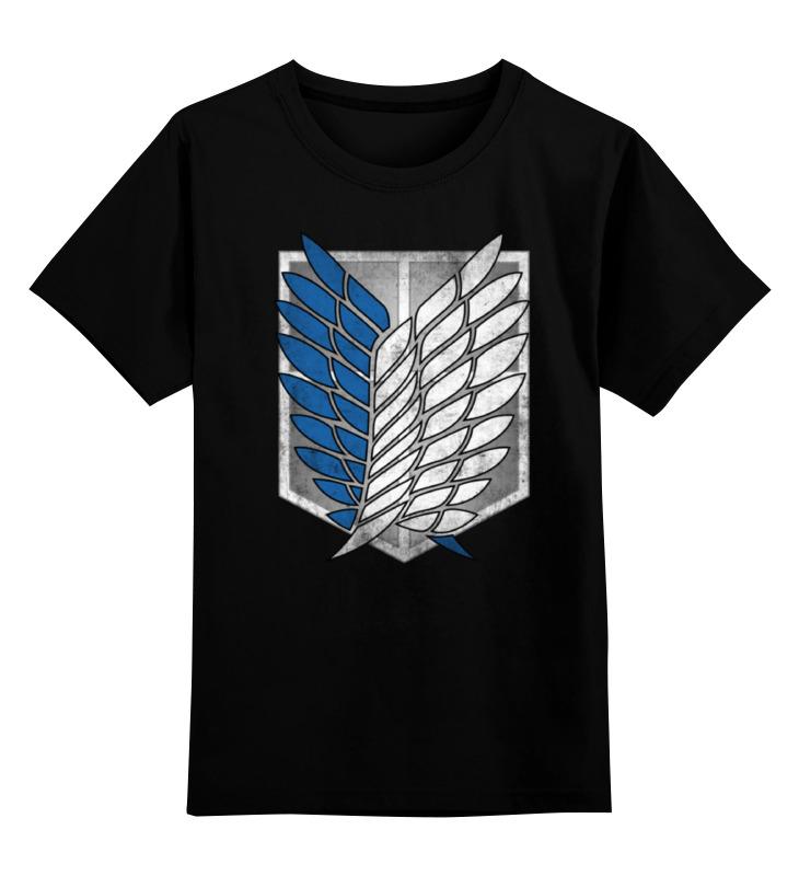 Детская футболка классическая унисекс Printio Атака титанов