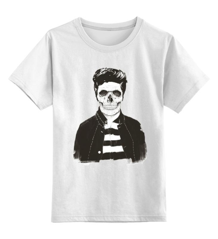 Детская футболка классическая унисекс Printio Скелет
