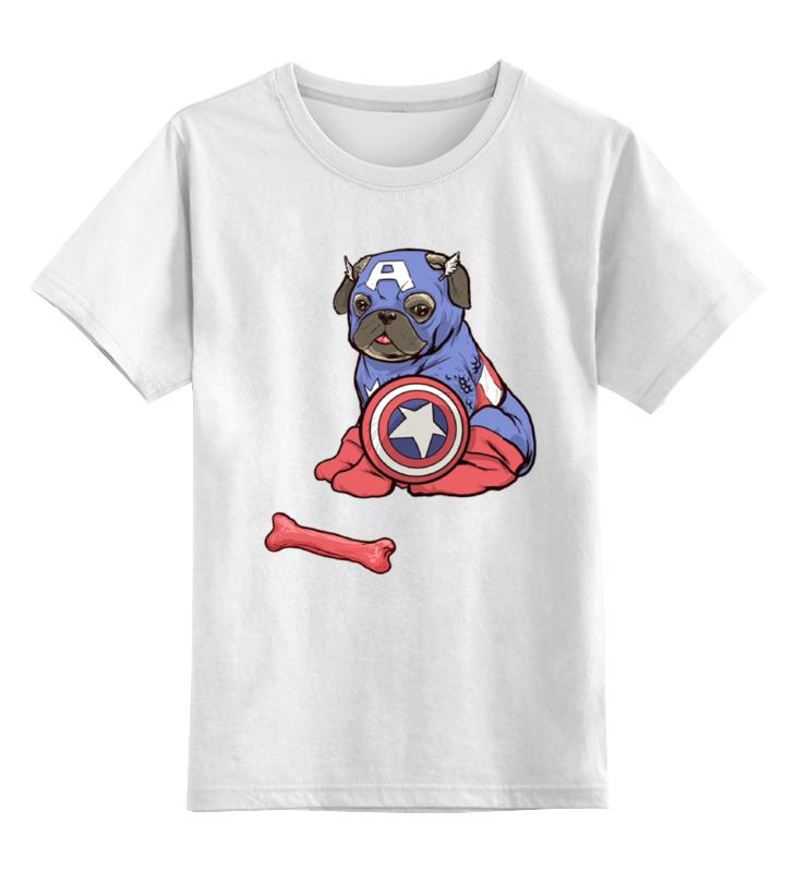 Детская футболка классическая унисекс Printio Капитан америка цена