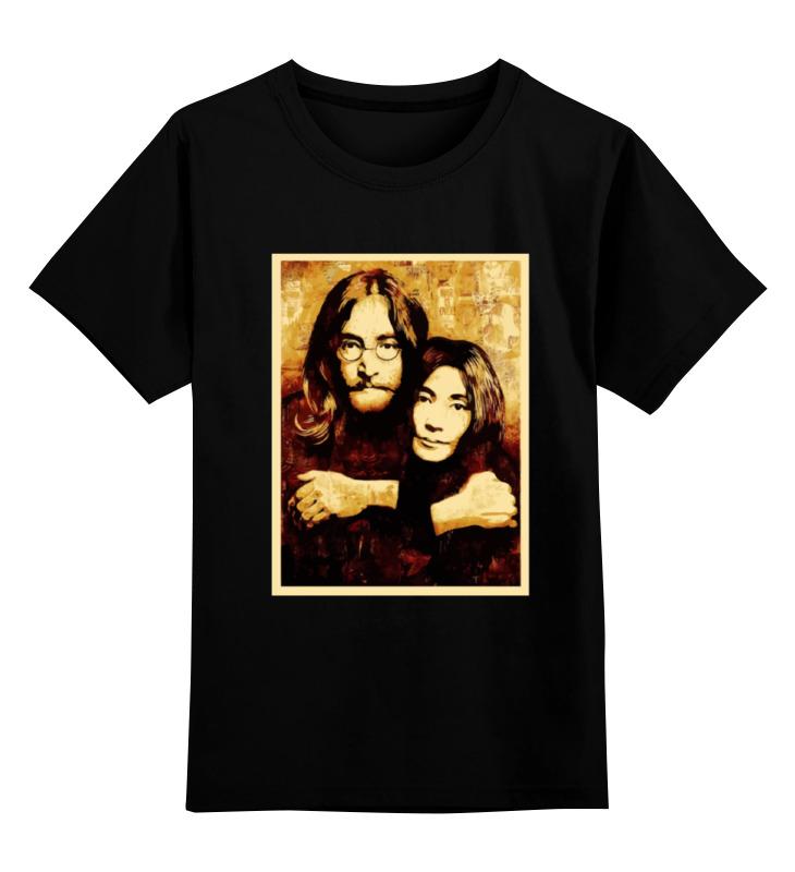 Детская футболка классическая унисекс Printio Джон леннон и йоко оно джон леннон йоко оно john lennon yoko ono double fantasy lp
