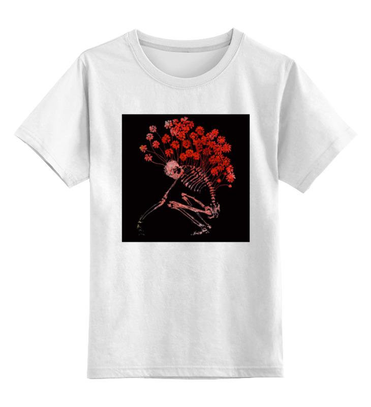 Детская футболка классическая унисекс Printio Скелет пророс цветами футболка классическая printio сакральная анатомия