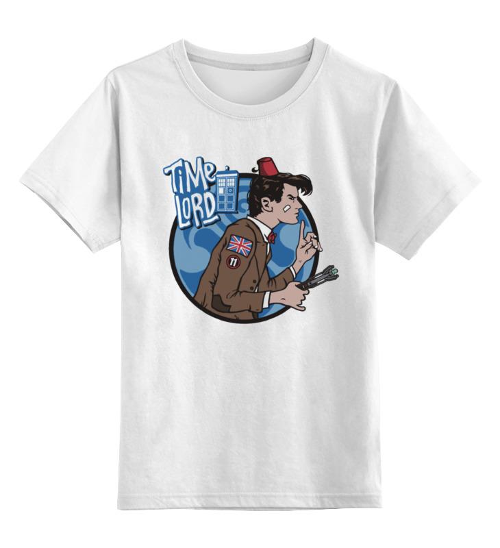 Детская футболка классическая унисекс Printio Доктор кто. time lord футболка для беременных printio time lord доктор кто