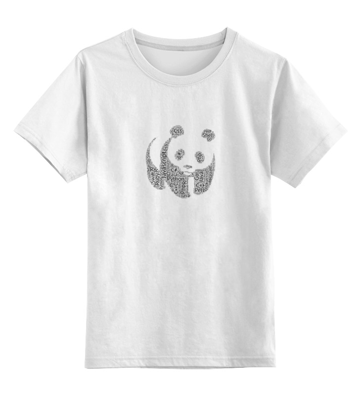 цена на Детская футболка классическая унисекс Printio Язык панды