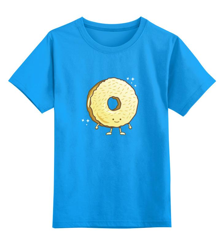 Детская футболка классическая унисекс Printio Пончик (donut) детская футболка классическая унисекс printio кот и пончик