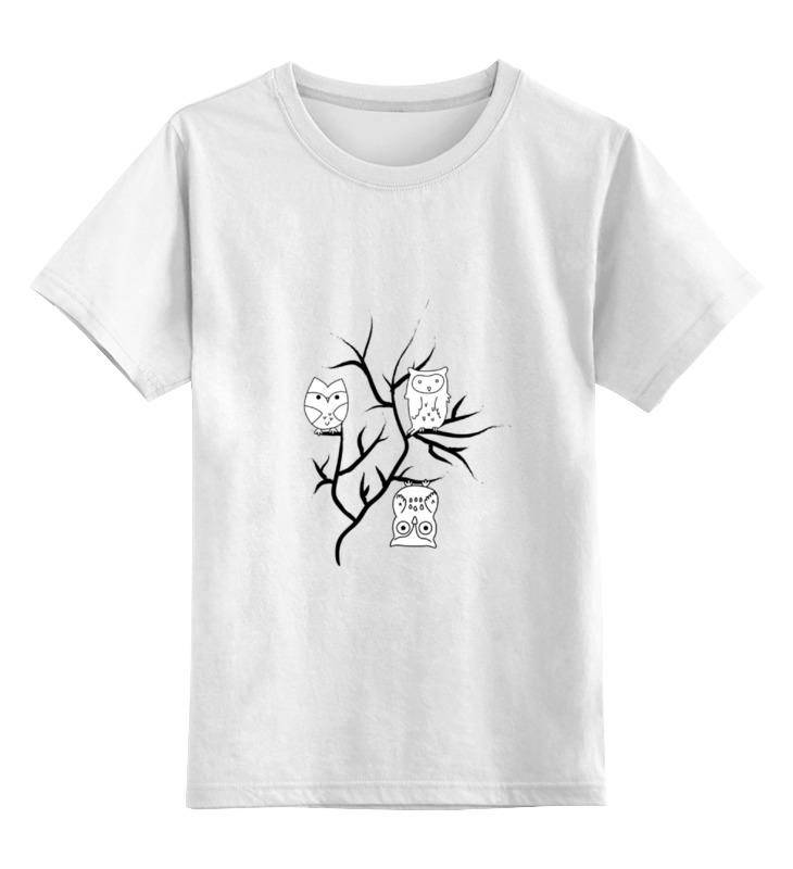 Детская футболка классическая унисекс Printio Owl's party