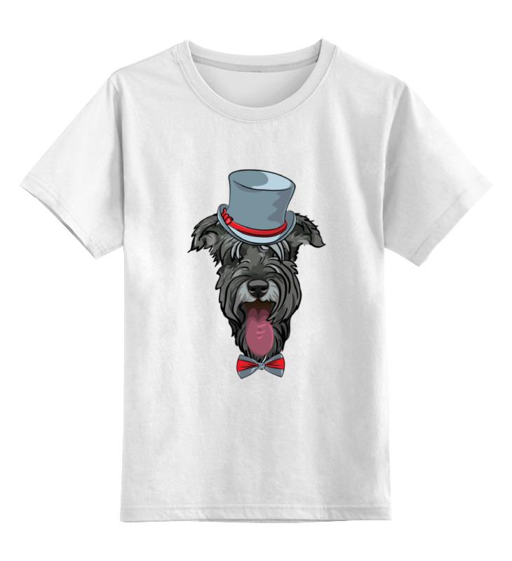 Детская футболка классическая унисекс Printio Шнауцер как купить собаку в новосибирске породы ризеншнауцер без документов