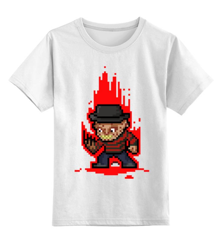 Детская футболка классическая унисекс Printio Freddy krueger (8-bit) футболка wearcraft premium printio freddy krueger 8 bit