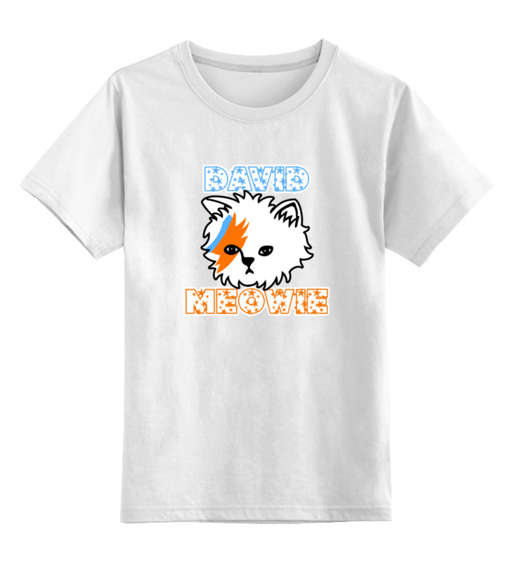 Детская футболка классическая унисекс Printio Дэвид мяу