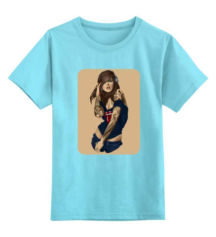 Детская футболка классическая унисекс Printio Девушка с плеером