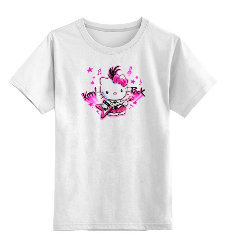 Детская футболка классическая унисекс Printio Kitty rock детская футболка классическая унисекс printio rock