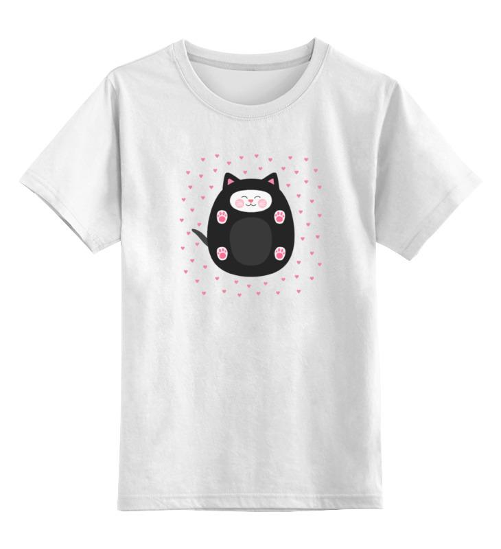Детская футболка классическая унисекс Printio милый котик футболка для беременных printio милый котик