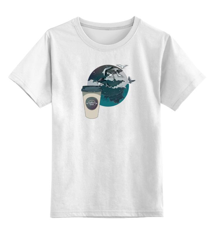 Детская футболка классическая унисекс Printio Время кофе цена и фото