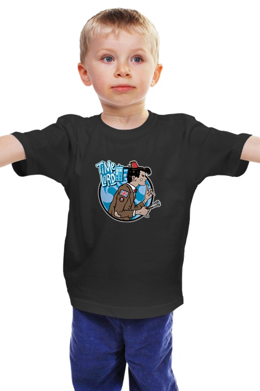 Детская футболка классическая унисекс Printio Time lord (doctor who) чехол для iphone 7 глянцевый printio time lord doctor who
