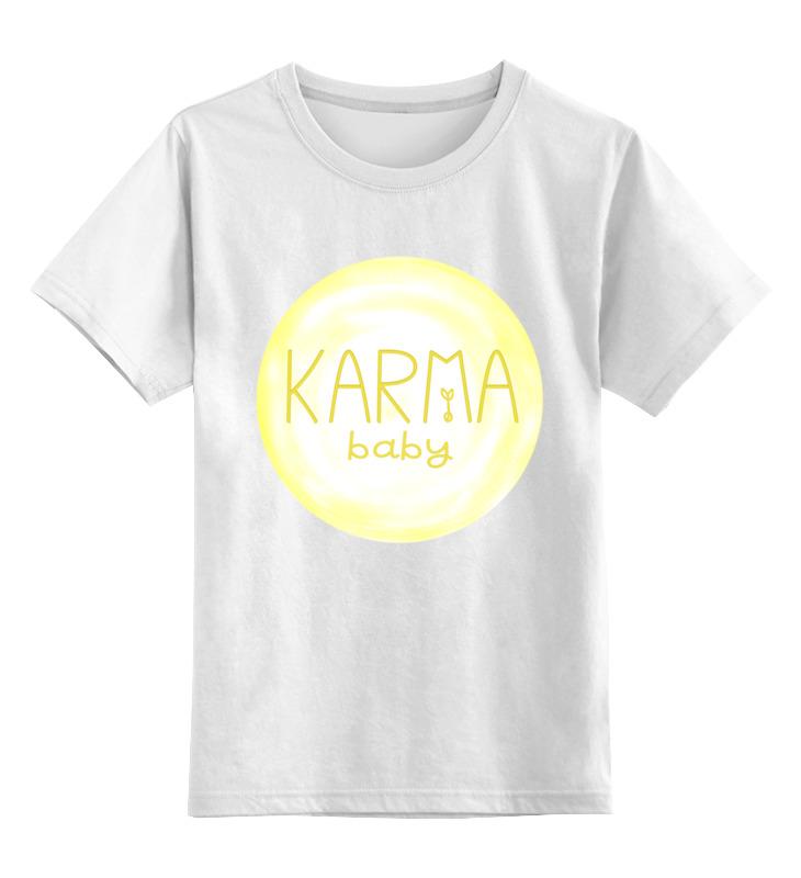 Детская футболка классическая унисекс Printio Karma baby все цены